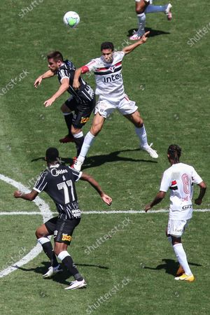 Ramiro and Hernanes during a game between São Paulo  vs Corinthians, a match valid for the Brazilian Championship 2020 at the Murumbi stadium in the southern part of the capital of São Paulo.