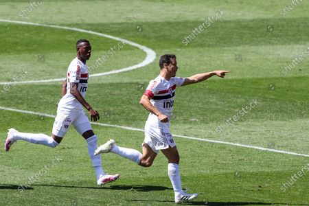 Hernanes makes goal during a game between São Paulo vs Corinthians, a match valid for the Brazilian Championship 2020, at the Murumbi stadium, in the south of the capital of São Paulo.