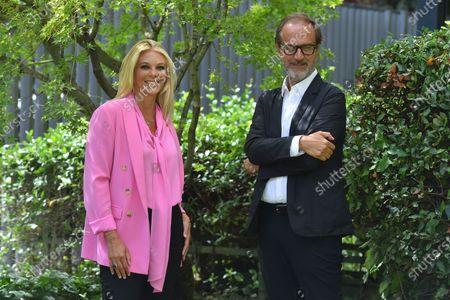 Stock Picture of Eleonora Daniele and Raiuno director Stefano Coletta
