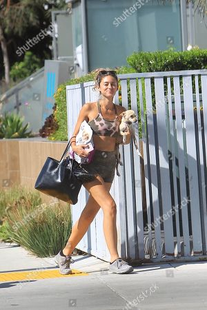 Editorial image of Caroline D'Amore out and about, Los Angeles, USA - 31 Aug 2020