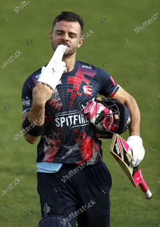 Heino Kuhn of Kent during Kent Spitfires vs Surrey, Vitality Blast T20 Cricket at The Spitfire Ground on 1st September 2020