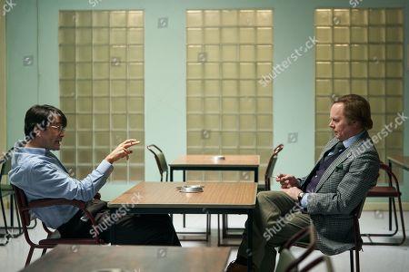 Stock Picture of David Tennant as Dennis Nilsen and Jason Watkins as Brian Masters.