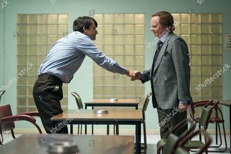 Stock Photo of David Tennant as Dennis Nilsen and Jason Watkins as Brian Masters.