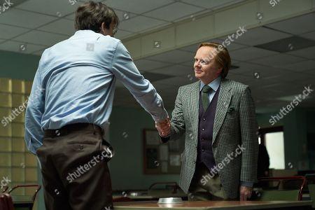 Stock Image of David Tennant as Dennis Nilsen and Jason Watkins as Brian Masters.
