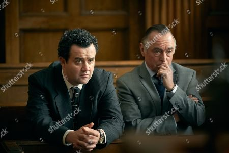 Stock Picture of Daniel Mays as Jay and Ron Cook as Chambers.