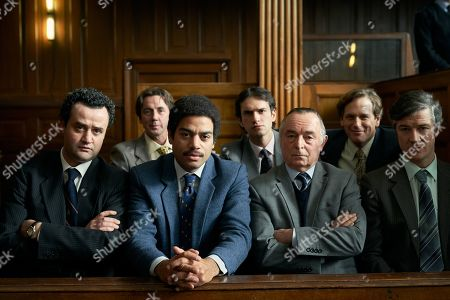 Stock Picture of Daniel Mays as Jay, Ben Bailey Smith as Brian Lodge, Ron Cook as Chambers and Barry Ward as McCusker.