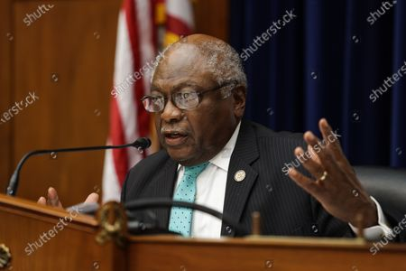 Oversight and Reform Subcommittee Chairman James E. Clyburn speaks during a House Oversight and Reform Subcommittee, on the administration's response the the Coronavirus crisis, on Capitol Hill, Washington, DC, USA, 01 September 2020.