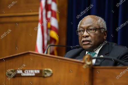 United States House Oversight and Reform Subcommittee Chairman US Representative James Clyburn (Democrat of South Carolina) makes his opening remarks on Capitol Hill,, during a US House Oversight and Reform Subcommittee, on the Trump administrations response the the Coronavirus crisis.