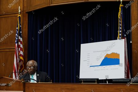Stock Photo of United States House Oversight and Reform Subcommittee Chairman US Representative James Clyburn (Democrat of South Carolina) speaks during a US House Oversight and Reform Subcommittee, on the Trump administrations response the the Coronavirus crisis, on Capitol Hill,,