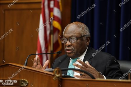 Stock Picture of United States House Oversight and Reform Subcommittee Chairman US Representative James E. Clyburn (Democrat of South Carolina) speaks during a US House Oversight and Reform Subcommittee, on the Trump administrations response the the Coronavirus crisis, on Capitol Hill,,