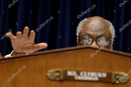 United States House Oversight and Reform Subcommittee Chairman US Representative James E. Clyburn (Democrat of South Carolina) speaks during a US House Oversight and Reform Subcommittee, on the Trump administrations response the the Coronavirus crisis, on Capitol Hill,,