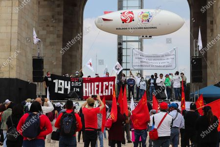 Editorial photo of Protest against Lopez Obrador in the Mexican capital, Mexico City - 01 Sep 2020
