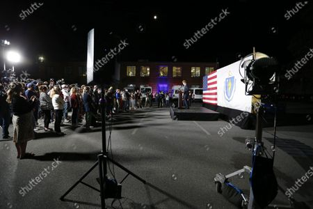 Democratic candidate for United States Senate, Representative Joe Kennedy III, speaks at his campaign headquarters after conceding in Watertown, Massachusetts, USA, 01 September 2020.