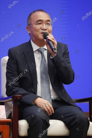 Yan Zhi, Chairman of Wuhan Zall Development Holding Co. Ltd. speaks during a press conference held by the State Council Information Office with the theme of promoting entrepreneurship in Beijing, China, 02 September 2020.