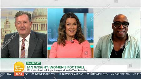 Piers Morgan, Susanna Reid and Ian Wright
