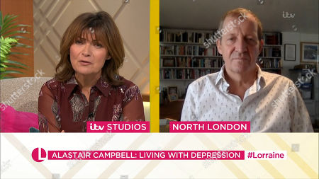 Lorraine Kelly and Alastair Campbell