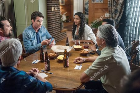 Kristian Bruun as Dave Leigh, Jerry O'Connell as Harley Carter and Sydney Tamiia Poitier as Det. Sam Shaw