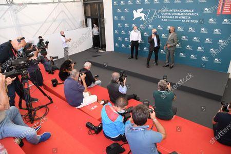 Jose Luis Rebordinos, Thierry Fremaux and Alberto Barbera