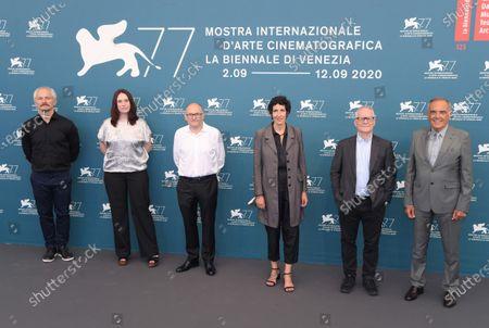 Karel Och, Vanja Kaludjercic, Jose Luis Rebordinos, Lili Hinstin, Karel Och, Thierry Fremaux and Alberto Barbera