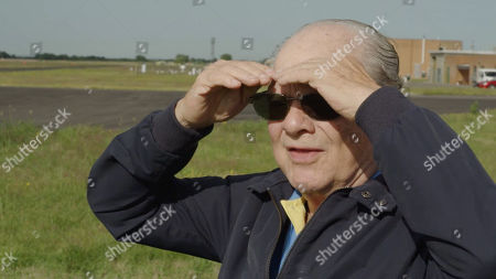 David Jason at RAF Coningsby watching a rehearsal of the Battle of Britain Memorial Flight.