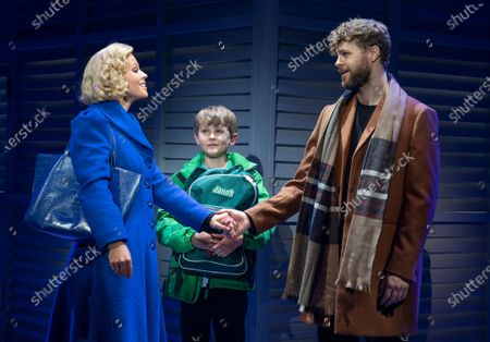 Kimberley Walsh as Annie, Jack Reynolds as Jonah, Jay McGuiness as Sam