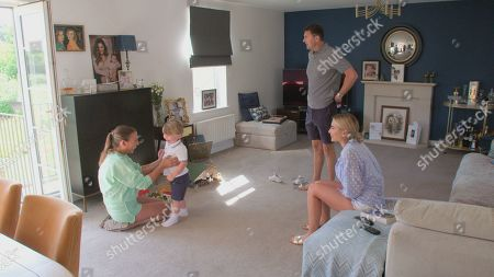 Billie Faiers and Greg with mum Sue and Arthur.