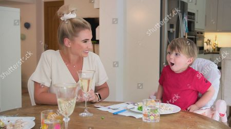 Billie Faiers with Arthur.