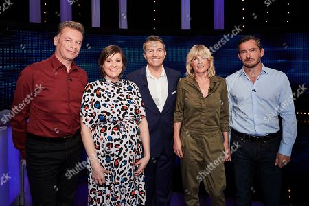 (L-R) Chris Packham, Josie Long, Bradley Walsh, Rachel Johnson and Giles Coren