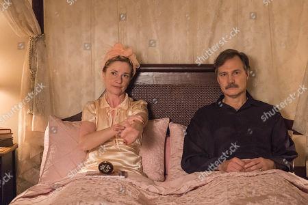 Stock Photo of David Morrissey as Walter Blackett, and Jane Horrocks as Sylvia Blackett.