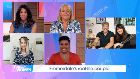 Stock Photo of Andrea McLean, Linda Robson, Carol McGiffin, Brenda Edwards, Mark Jordon and Laura Norton