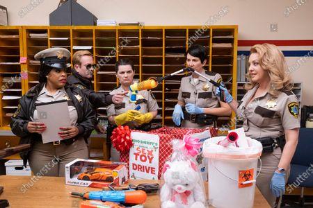 Niecy Nash as Deputy Raineesha Williams, Thomas Lennon as Lieutenant Jim Dangle, Mary Birdsong as Deputy Cherisha Kimball, Kerri Kenney-Silver as Deputy Trudy Wiegel and Wendi McLendon-Covey as Deputy Clementine Johnson