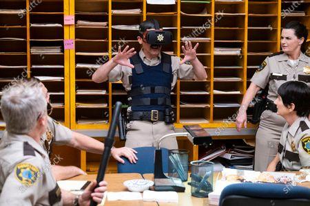 Carlos Alazraqui as Deputy James Garcia, Joe Lo Truglio as Deputy Frank Rizzo, Mary Birdsong as Deputy Cherisha Kimball and Kerri Kenney-Silver as Deputy Trudy Wiegel