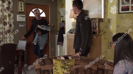 Coronation Street - Ep 10111 Monday 7th September 2020 Dev Alahan, as played by Jimmi Harkishin, is furious to catch Asha Alahan, as played by Tanisha Gorey, and Corey Brent, as played by Maximus Evans, together.