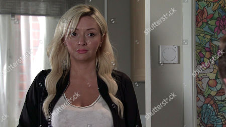 Coronation Street - Ep 10112 Wednesday 9th September 2020 Nicky, as played by Kimberley Hart Davies, calls at Daniel Osbourne's flat and to his relief, agrees that they can be friends.
