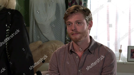 Coronation Street - Ep 10112 Wednesday 9th September 2020 Nicky, as played by Kimberley Hart Davies, calls at Daniel Osbourne's, as played by Rob Mallard, flat and to his relief, agrees that they can be friends.