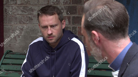 Coronation Street - Ep 10115 Monday 14th September 2020 - 1st Ep When Billy Mayhew, as played by Daniel Brocklebank, reveals that a body was found in the canal and he suspects it might be that of Kel, Paul Foreman's, as played by Peter Ash, distraught.