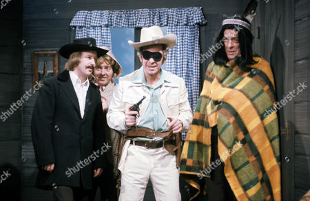 Stock Photo of Tim Brooke Taylor, Denis King, Barry Cryer and John Junkin