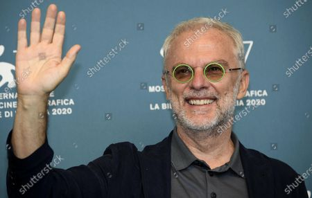 Daniele Luchetti poses at a photocall for 'Lacci' during the 77th annual Venice International Film Festival, in Venice, Italy, 02 September 2020. The event is the first major in-person film fest to be held in the wake of the Covid-19 coronavirus pandemic. Attendees have to follow strict safety measures like mandatory face masks indoors, temperature scanners, and socially distanced screenings to reduce the risk of infection. The public is barred from the red carpet, and big stars are expected to be largely absent this year. The 77th edition of the festival runs from 02 to 12 September 2020.