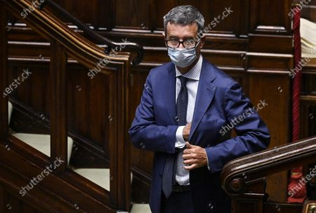 Andrea Orlando, vice president of Democratic Party, during the vote of confidence on the Covid emergency extension decree at the Chamber of Deputies, Rome, Italy, 02 September 2020.