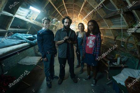 Stock Photo of Dan Byrd as Ian, Desmin Borges as Wilson Wilson, Jessica Rothe as Samantha and Ashleigh LaThrop as Becky
