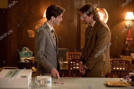 Theodore Pellerin as Cody Bonar and Alexander Skarsgard as Travis Stubbs