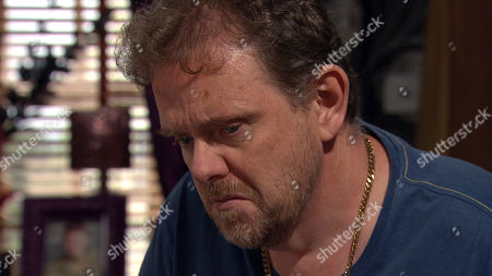 Emmerdale - Ep 8837 Wednesday 16th September 2020 Dan Spencer, as played by Liam Fox, fights tears as he admits to Amelia Spencer that his inability to move on his own has caused him to wet himself.