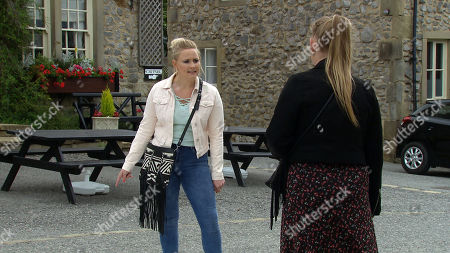 Emmerdale - Ep 8834 Friday 11th September 2020 Tracy Metcalfe, as played by Amy Walsh, does her worst putting the kibosh on Amy Wyatt's, as played by Natalie Ann Jamieson, hopes to date Matty.