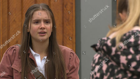 Emmerdale - Ep 8837 Wednesday 16th September 2020 Sarah Sugden, as played by Katie Hill, attempts to cheer Amelia Spencer, as played by Daisy Campbell, up by suggesting that they bunk off tomorrow and use Al's credit card to pay for some retail therapy.