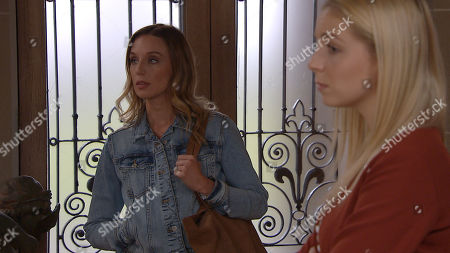 Emmerdale - Ep 8834 Friday 11th September 2020 Belle Dingle's, as played by Eden Taylor-Draper, shocked when Jamie Tate tells her he wants to push ahead with divorcing Andrea Tate, as played by Anna Nightingale. Whilst they're discussing this, Andrea arrives home.
