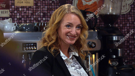 Emmerdale - Ep 8835 Monday 14th September 2020 Dan Spencer's grateful when Nicola King, as played by Nicola Wheeler, tells Amelia Spencer she can take some clothes from the clothes swap for free.