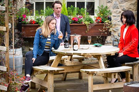 Emmerdale - Ep 8840 Friday 18th September 2020 Gabby Thomas, as played by Rosie Bentham, off on a drunken fresher's night out, determined to escape her hurt.. With Liam Cavanagh, as played by Jonny McPherson.