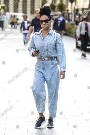 Michelle Ackerley seen out and about In London