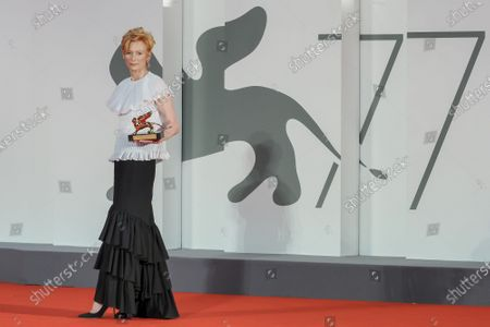 Tilda Swinton receives the Golden Lion for Lifetime Achievement