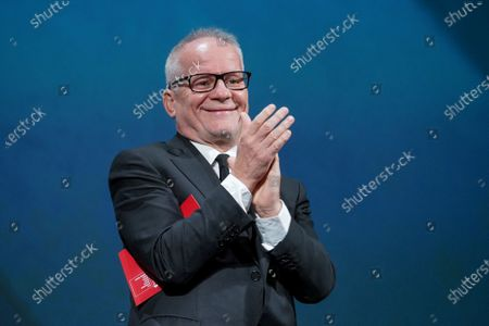 Director of Cannes Film Festival Thierry Fremaux attends the Opening Ceremony during the 77th Venice Film Festival at on September 02, 2020 in Venice, Italy.